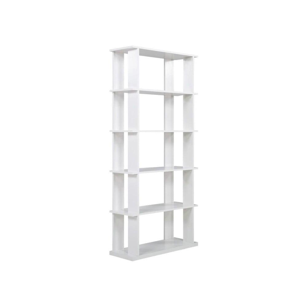 Bílý dřevěný regál SOB York