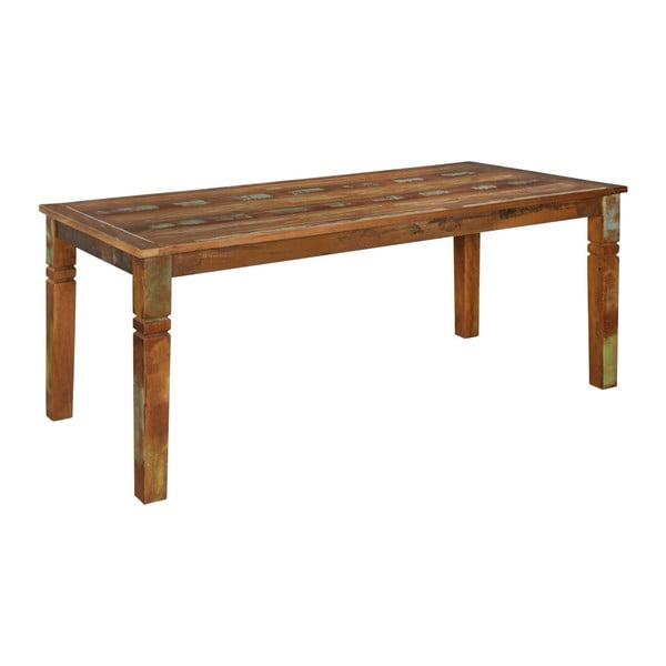 Stół z drewna mango z recyklingu Skyport KALKUTTA, 180x90 cm