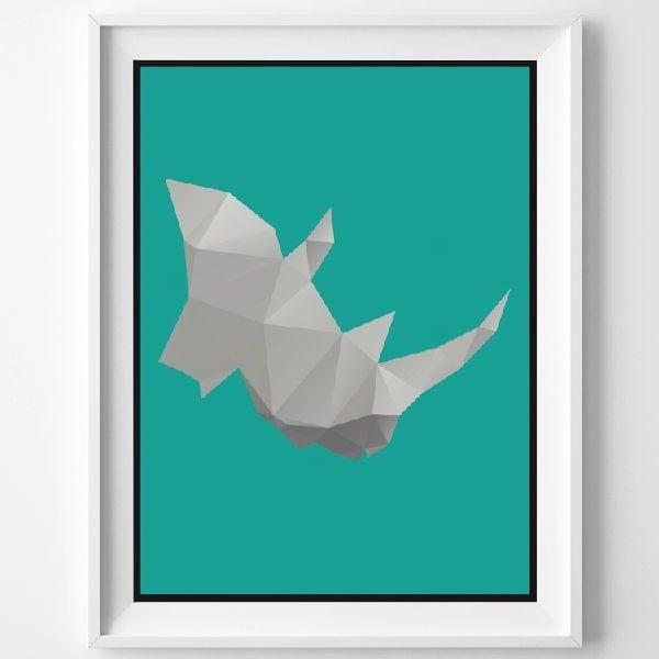 Plakát Rhino, A3