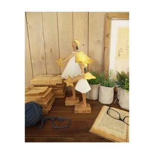 Sada 2 dekorativních dřevěných andělů Orchidea Milano Angels