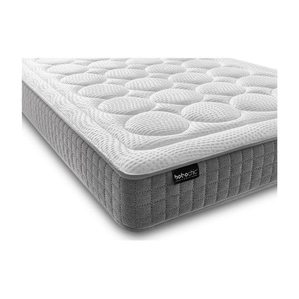 Bílá matrace s šedým okrajem Bobochic Paris Passion, 200x200cm