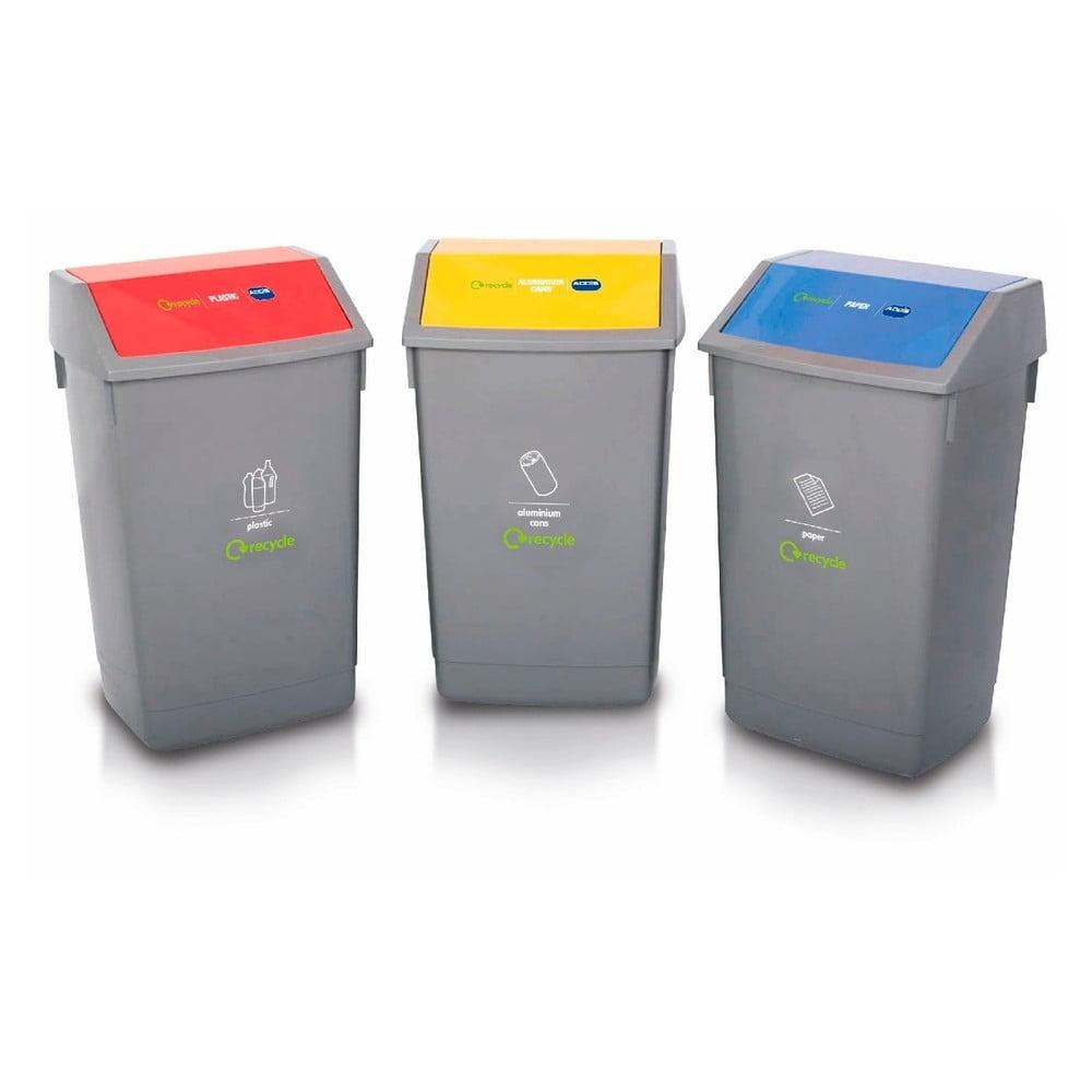 Sada 3 košů na tříděný odpad Addis Recycle, 60 l