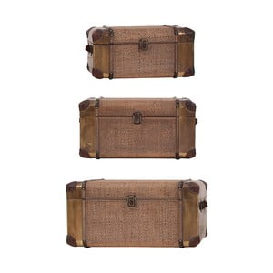 Sada 3 dekorativních kufrů Last Deco Trunkers