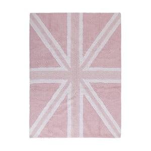 Růžoý bavlněný ručně vyráběný koberec Lorena Canals UK, 120x160cm