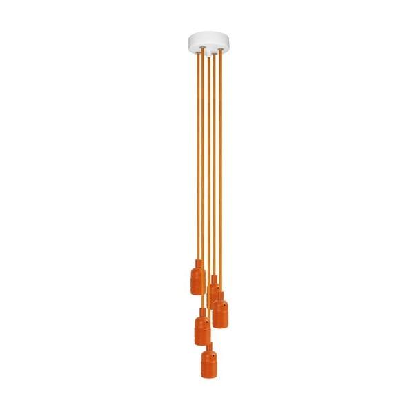 Pět závěsných kabelů Uno Group, oranžová/oranžová/bílá
