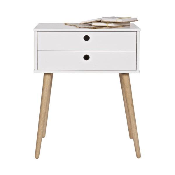 Bílý noční stolek De Eekhoorn Retro