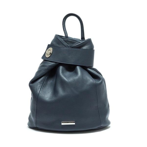 Tmavě modrý kožený batoh Anna Luchini