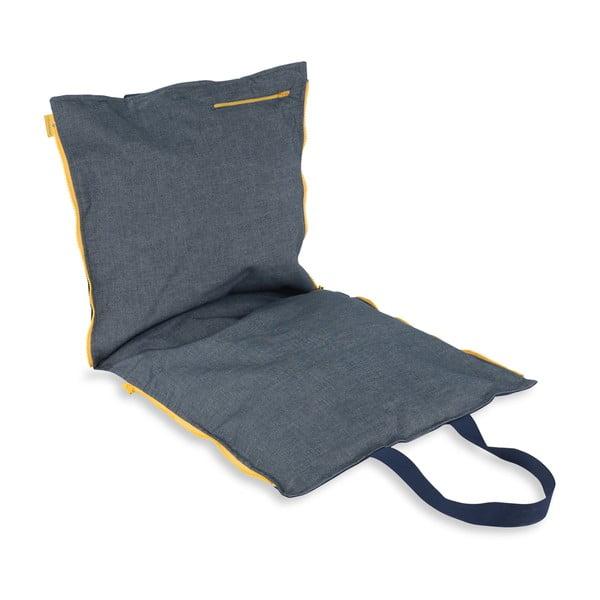 Skládací sedák Hhooboz 100x50 cm, tmavě modrý