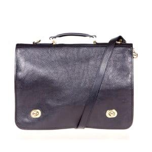 Černá kožená taška přes rameno Italia in Progress Trovatore