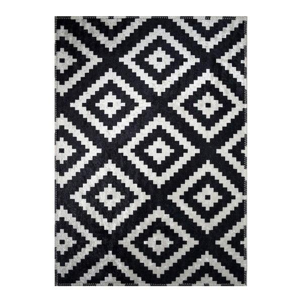 Covor cu model Vitaus Siyah, 50 x 80 cm, negru-alb