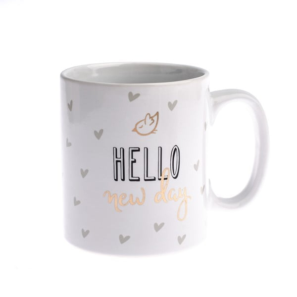 Porcelánový hrnček Dakls Hello New Day, 650 ml