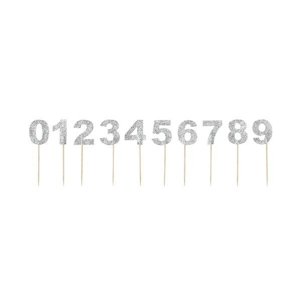Sada 10 zapichovacích dekorací na dort Miss Étoile Numbers