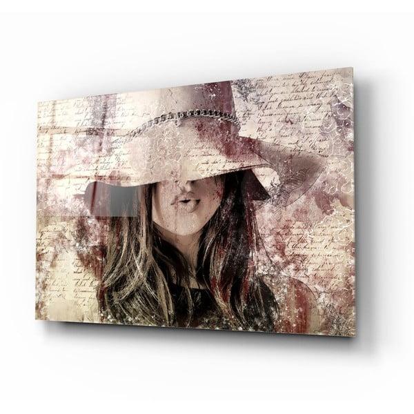Mysterious Woman üvegezett kép - Insigne