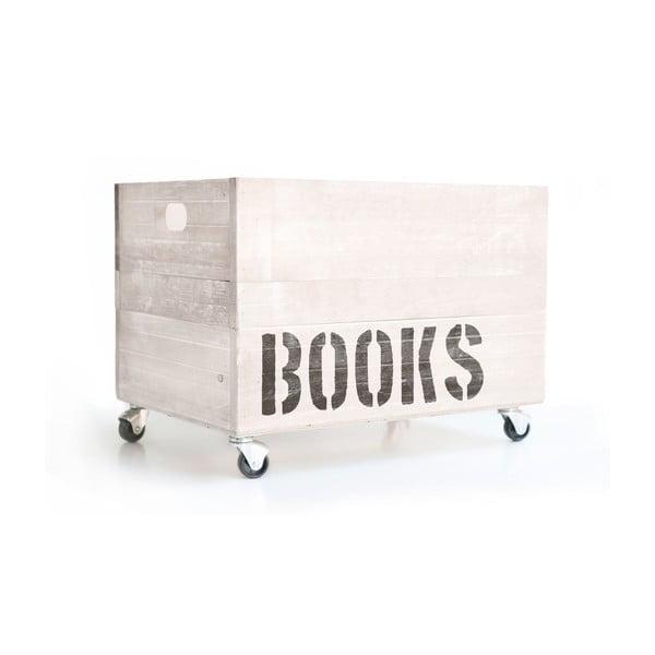 Cutie din lemn cu roți Really Nice Things Books, alb