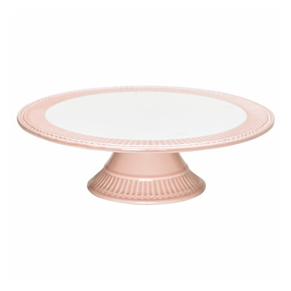 Platou cu picior pentru tort Green Gate Alice, ø28cm roz