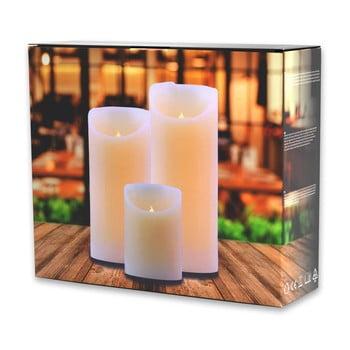 Set 3 lumânări luminoase DecoKing Subtle Sweet de la DecoKing