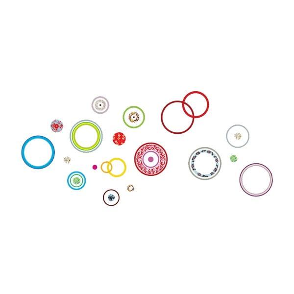 Dekorativní samolepka Barevné kruhy, 215x95 cm