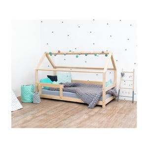 Přírodní dětská postel s bočnicemi ze smrkového dřeva Benlemi Tery, 80 x 160 cm