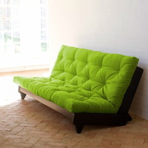 Rozkládací pohovka Karup Fresh Wenge/Lime