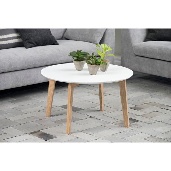 Bílý konferenční stolek Actona Molina, ⌀ 50 cm