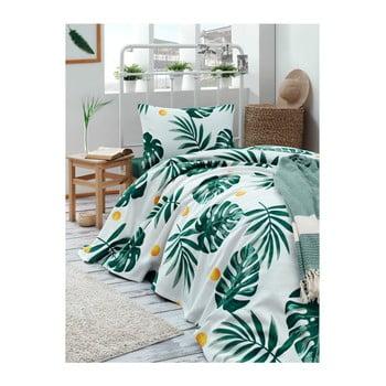 Cuvertură din bumbac pentru pat Muniro Jungle, 160 x 235 cm de la EnLora Home
