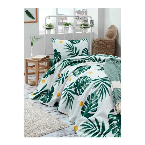 Cuvertură din bumbac pentru pat Muniro Jungle, 160 x 235 cm