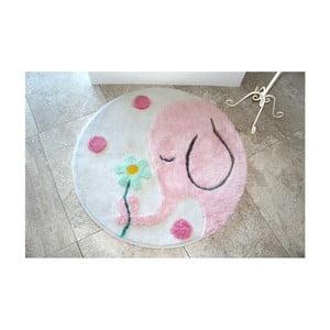 Koupelnová předložka Buyuk Fil Pink, ⌀ 90 cm