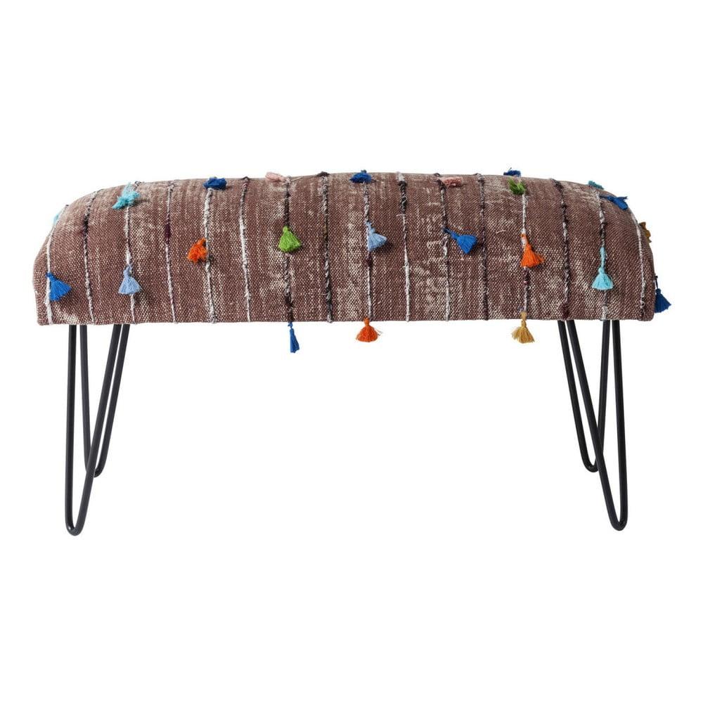 Béžová lavice Kare Design Izzy, 80cm