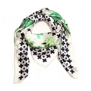 Hedvábný šátek Pammy Blue, 130x130 cm