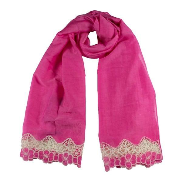 Šátek s příměsí hedvábí Shirin Sehan Florentine Sweet