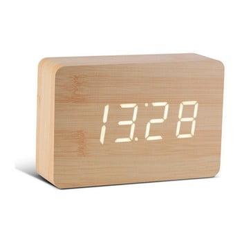 Ceas deșteptător cu LED Gingko Brick Click Clock, maro – alb de la Gingko