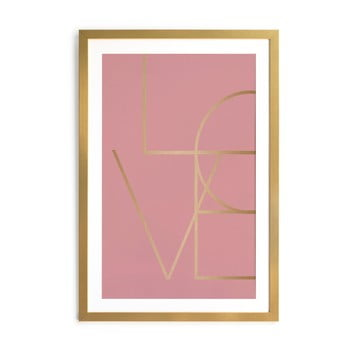 Tablou Velvet Atelier Golden Love, 40 x 60 cm