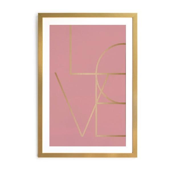 Obraz v ráme Velvet Atelier Golden Love, 40x 60 cm