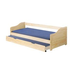 Dřevěná jednolůžková postel se zásuvkou Evergreen House Leon, 90x190cm