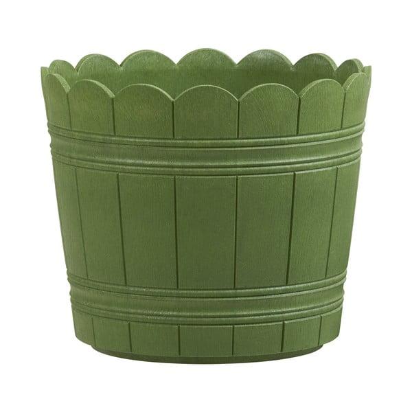 Vysoce odolný květináč Country 30 cm, zelený