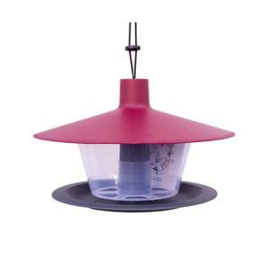 Căsuță pentru păsări Plastia Finch, roșu-gri