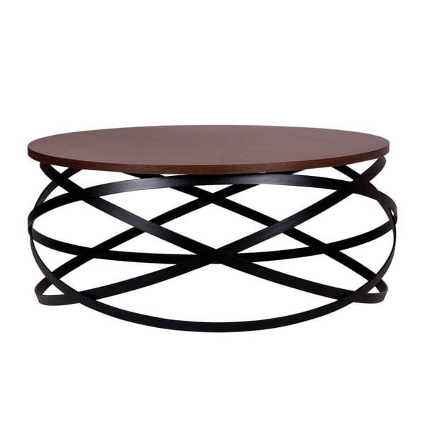 Tmavě hnědý konfereční stolek sømcasa Dario