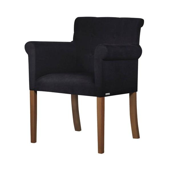 Scaun din lemn de fag Ted Lapidus Maison Flacon cu picioare maro închis, negru