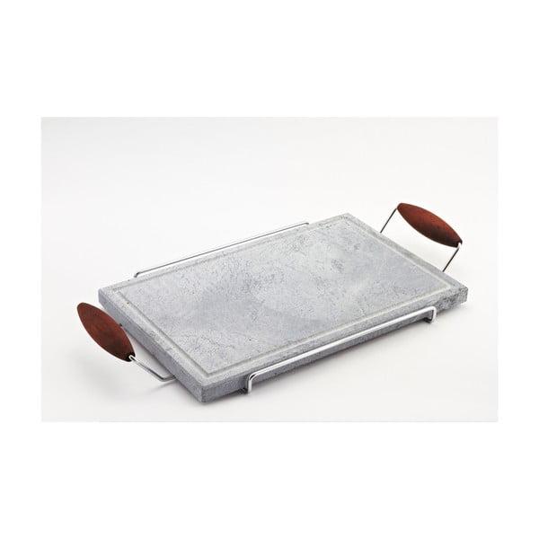 Servírovací podnos s kamennou deskou Stone Plate, 27x52 cm