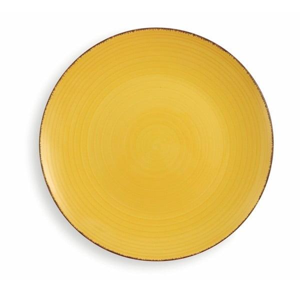 Sada 6 velkých talířů Villa d'Este New Baita Giallo