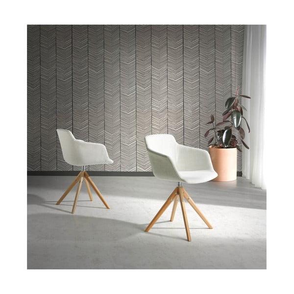 Bílá čalouněná židle Ángel Cerdá Blanche