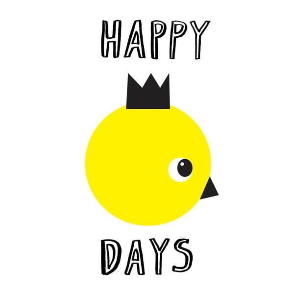 Plakát Karin Åkesson Design Happy Days, 30x40 cm