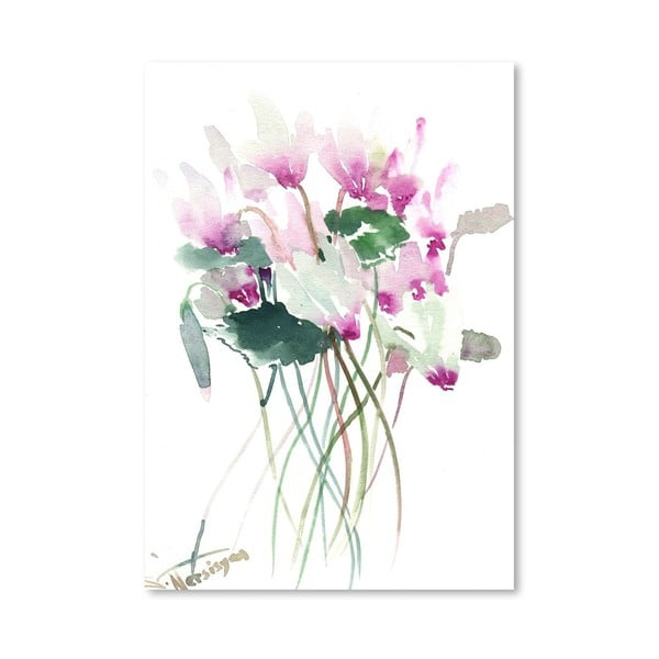 Plakát White Pink Flowers od Suren Nersisyan