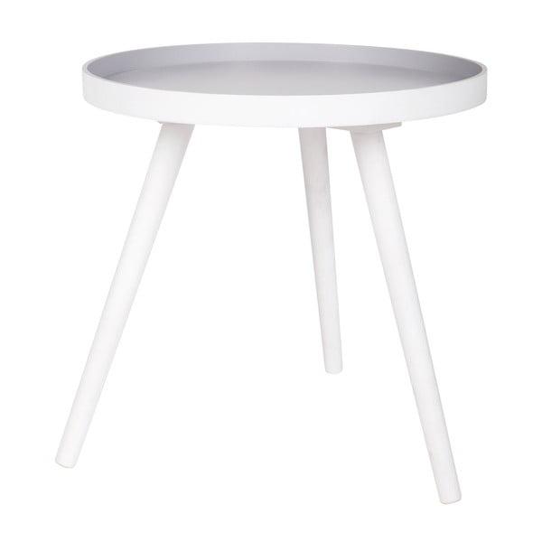 Bílý odkládací stolek WOOOD Sasha