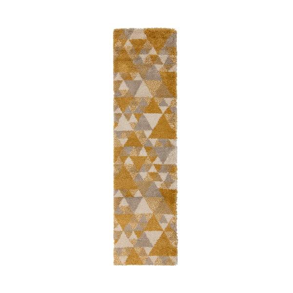 Covor Flair Rugs Nuru, 60 x 230 cm, gri - galben