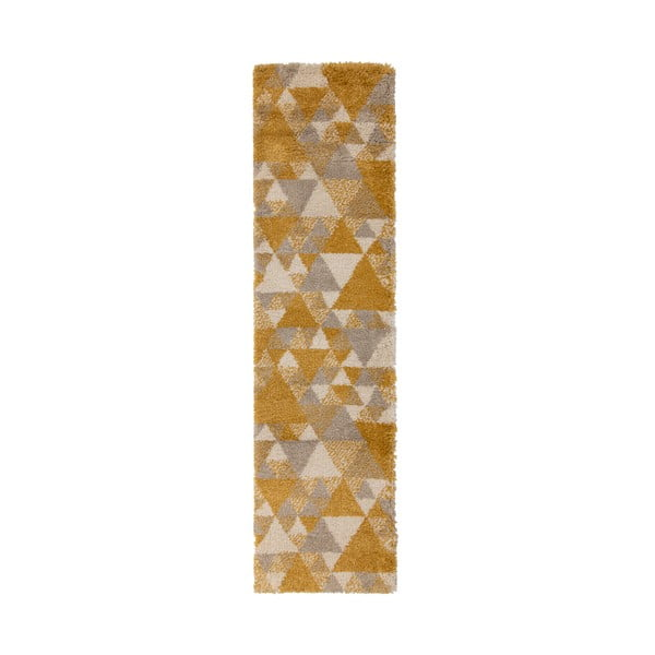 Szarożółty chodnik Flair Rugs Nuru, 60x230 cm