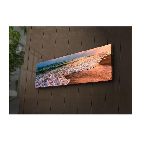 Podświetlany obraz Gaia, 90x30 cm