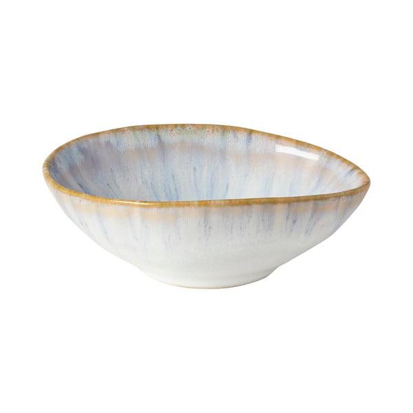 Kameninová miska v bielej farbe s béžovým okrajom Costa Nova Brisa, ⌀ 10 cm