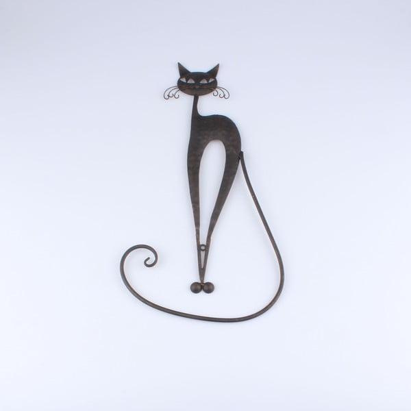 Kovová dekorácia v tvare mačky Dakls