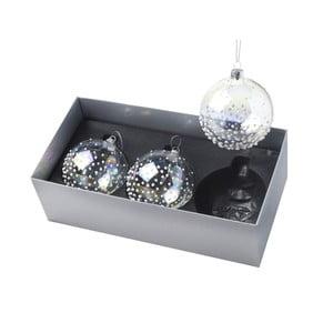 Vánoční ozdoby Ball Dotty Clear, 3 ks